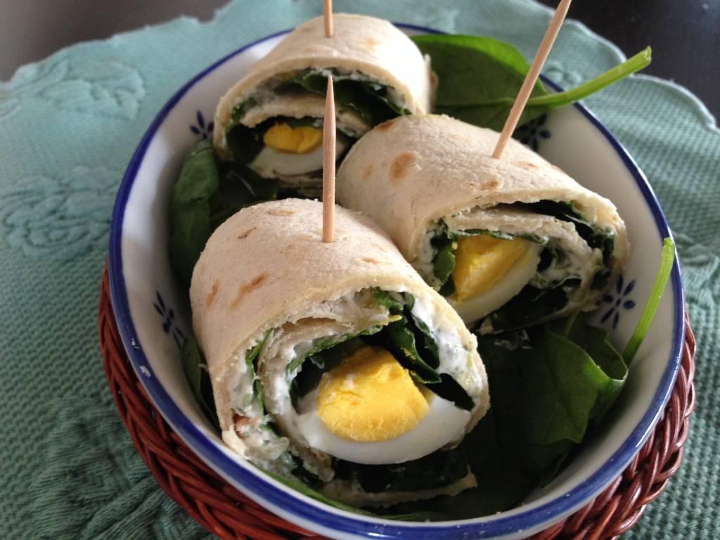 dieta uova spinaci