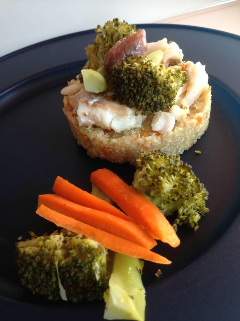 Castello di quinoa merluzzo broccoli – Ricetta Ipocucino