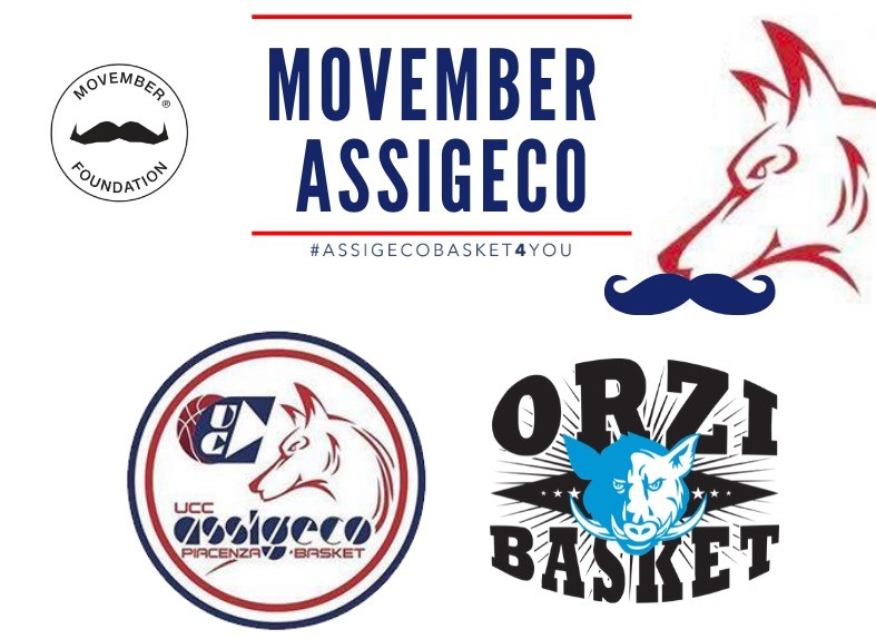 Assigeco Piacenza aderisce a Movember nelle partite casalinghe
