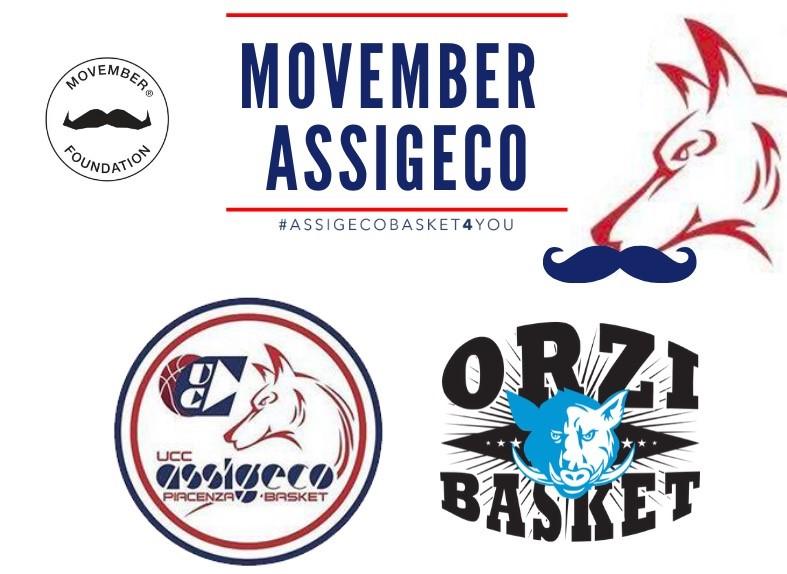 Assigeco Piacenza aderisce a Movember nelle partite casalinghe